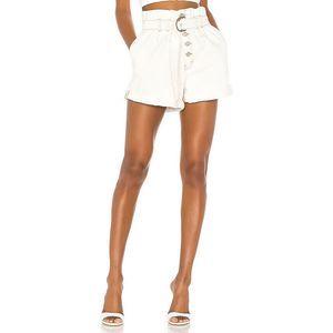 NWOT Free People Shorts 12 Ivory Cindy High Waist